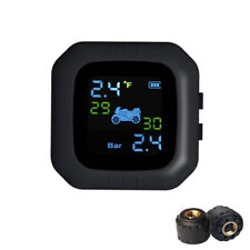 Waterproof LCD Motorcycle TPMS Tire Pressure Monitor System With 2 External