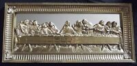Home Interiors Lords Last Supper Picture Mirror Gold Gilt Wall Plaque 21.75x10