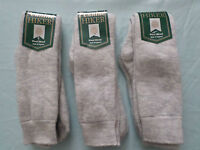 MENS WOOL LOOP DOUBLE KNIT HIKING WALKING BOOT SOCKS 3 pair 4-7 SMALL UK MADE