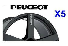 5 X PEUGEOT ALLOY WHEEL Decals  sticker