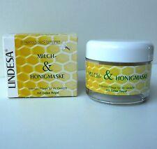 Lindesa Creme Milch & Honigmaske Milchmaske Gesicht-Pflege 50ml mit Gelée Royal