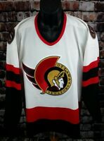 MASKA OTTAWA SENATORS HOCKEY JERSEY MEN MEDIUM CCM Embroidered STITCHED AIR KNIT
