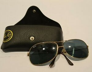 Ray Ban Sonnenbrille Damen Herren Unisex Goldrand Brille Sun Glasses Etui
