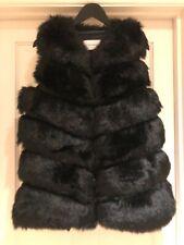 Black Faux Fur Gilet, size 12, BNWOT