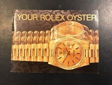 Libretto Booklet  Your Rolex Oyster printed in switzeland 1992 perfect original