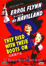 They Died with Their Boots On (1941) - Errol Flynn,Olivia de Havilland - DVD NEW