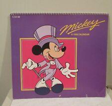 Vintage Disney Mickey Calendar 1990 - By Cleo