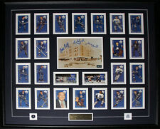 Toronto Maple Leaf Gardens with card set signed by Dick Duff Johnny Bower Eddie