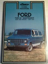 CLYMER SERVICE REPAIR HANDBOOK FOR FORD VANS AND PICKUPS 1969-78