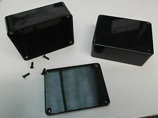 MB2 Caja Caja 100 X 76 X 41 Caja de ABS irrompible proyecto PCB Tornillo Tapa negro