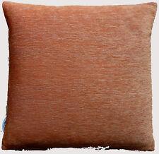 """Cushion Cover Orange plain Chenille zip Home chair Sofa Decor 17"""" Pillow Case"""
