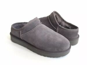 UGG WOMEN CLASSIC SLIPPER GREY GRAY SHEARLING MOCCASIN SHOE US 11 / EU 42 / UK 9