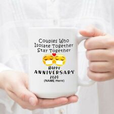 Personalized Quarantine Mug Couples Who Isolate Together Stay Together Happy Mug
