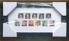 Royal Mail CALCIO EROI incorniciato FRANCOBOLLI, Moore, diritto, BEST & 8 più Legends