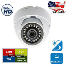 Outdoor Day Night Vision CCTV Security Camera 1080p AHD TVI CVI Wide Angle Dome