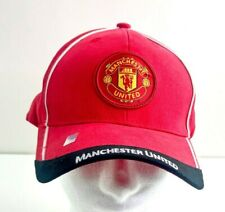 Manchester United Adjustable Strapback Soccer Club Hat Cap Red