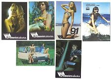 14 Soviet Russian Pocket Calendars Girls, Insurance Set #B12