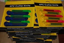 LOT OF 144ct BOX CUTTERS UTILITY KNIFE Wholesale Free Shipping