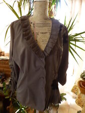 T XL corsage mariniére  TOLANTINO original ,gris ,noir ,plissé
