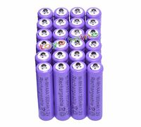 24x AAA 1800mAh 3A 1.2 V Ni-MH Purple Rechargeable Battery Cell for MP3 RC Toys