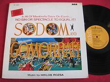 NM SOUNDTRACK LP - SODOM AND GOMORRAH (1979) JAPAN PRESS - MIKLOS ROZSA - RCA