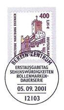 BRD 2001: Die Wartburg! SWK Nr 2211 mit Berliner Ersttags-Sonderstempel! 1A! 155