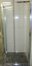 Semi Frameless Shower Screen - 1850 x 810 RETURN