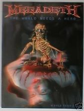 MEGADETH the world needs a hero 2001 tour programme 20 pages