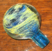Art Glass : A Maltese Mdina glass bottle Stopper - circa 1960's/70's - Michael H