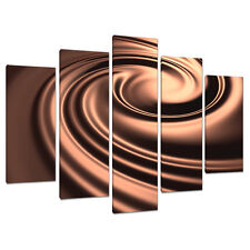 Set of 5 Sepia Brown Canvas Wall Art Pictures Living Room Prints 5061
