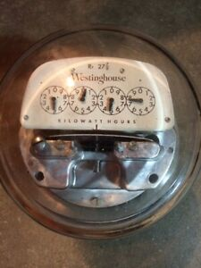 Vintage Westinghouse Watthour Meter 240v 3 Wire Working