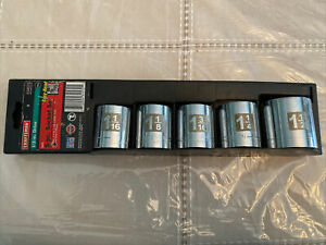 """Craftsman 5pc. 1/2"""" Drive Inch Easy-to-Read Socket Set (34572)"""