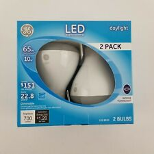 Ge 2 Pack 65w Daylight LED BR30 Indoor Dimmable Floodlight Bulbs 22726
