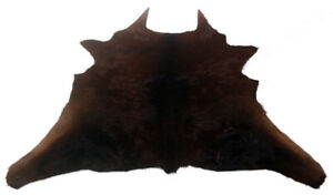 "Cowhide Rugs Calf Hide Cow Skin Rug (27""x31"") Black and Brown CH8226"