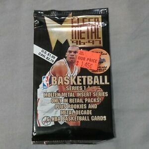 New 1996-97 Fleer Metal Basketball Series 1 Pack 6 Cards