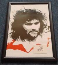 MANCHESTER UNITED LEGEND George Best Framed A3 Poster & Facsimile Autograph MUFC