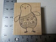 Hero Arts #H5291 Flower Chick Wood Mount Rubber Stamp New A1532