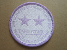 British Trampoline Federation Proficiency Two Star Woven Cloth Patch Badge