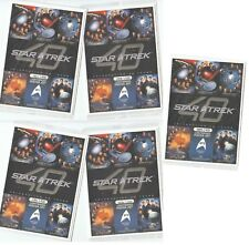 "Star Trek 40th Anniversary - 5 Card ""Lightspeed Poster Art"" Box Topper Set BT1-5"