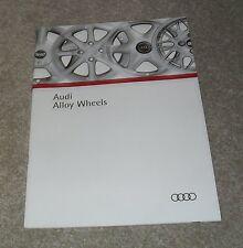 Audi Alloy Wheel Brochure 1992 - BBS Votex Ronal Cromodora Sport Raider