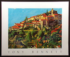 """Tony Bennett """"South of France"""" Poster Hand Signed by Tony Bennett Make An Offer!"""