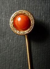Épingle cravate ou foulard OR massif corail gold pin coral  bijou ancien