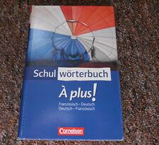 Wörterbuch Schulwörterbuch Französisch À plus! Cornelsen