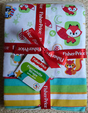 NWT Fisher Price Gift Pack of 2 Girls Boys Unisex Baby Flannel Wrap Blanket