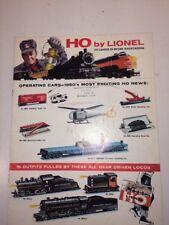 Vintage 1960 LIONEL TRAIN  CATALOG HO CONSUMER ORIGINAL Model Collector Good