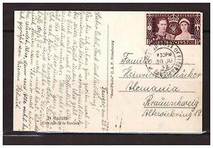 6653) TANGIER 1937 PC Tangier to Braunshweig (D)