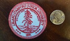 """Leland-Stanford-Junior-University-embroidered-iron-on-Patch-1891 2.5"""""""