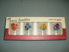NEW Tervis Tumbler Set of 4 Drinking Glasses Embroidered Flowers 16 oz