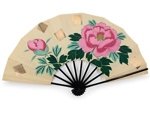 Vintage Japanese Kyoto Odori 'Maiogi' FoldingDanceFan Original Box: Feb 19-G