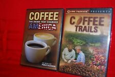 2 DVDs  Globe Trekker Coffee Trails & Coffee the Drink that Changed America New